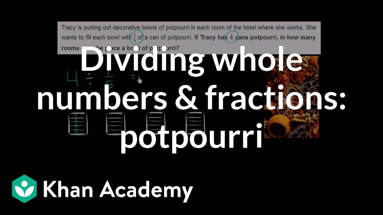Dividing Whole Numbers By Fractions: Word Problem (video)  Khan Academy