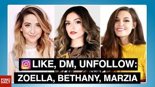 Zoella Sugg, Bethany Mota, Marzia Bisognin • Like, DM, Unfollow