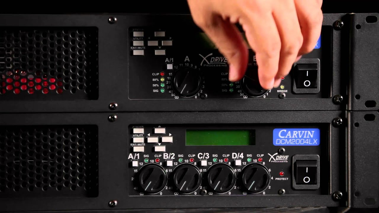 Carvin Dcmlx Power Amp System Set Up Youtube Audio Amplifier