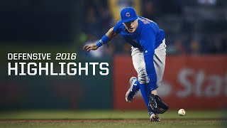 MLB Javier Baez Defensive Highlights 2016 Season - Chicago Cubs