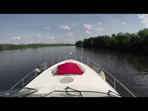 Lac Champlain to NewYork in boat (4 days TimeLapse)