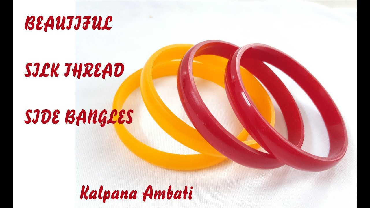 How to make Beautiful Designer Silk Thread Side Bangles at home | Silk  Thread Bangles making