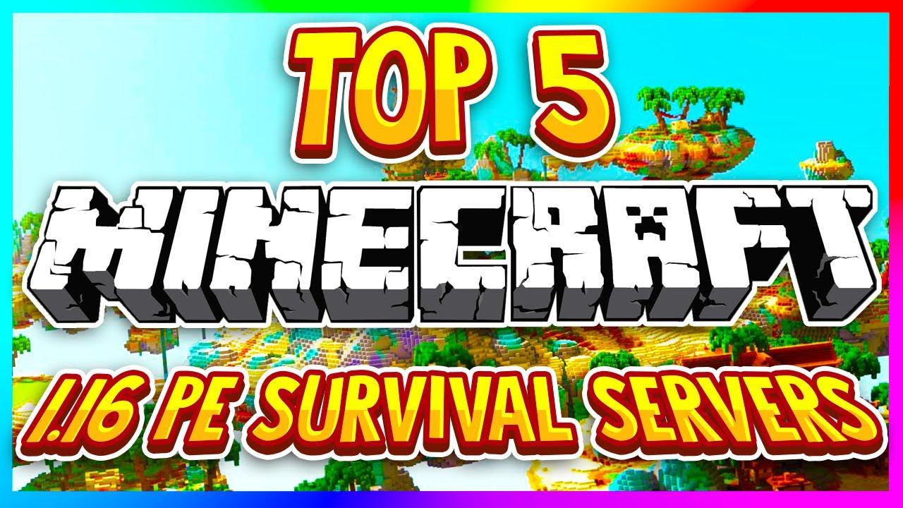 Top 5 Mcpe 1 16 Survival Servers 2020 Hd New Big Minecraft Servers Youtube