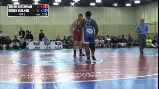 285 f, Korey Walker, Oklahoma vs Bryan Ditchman, Illinois