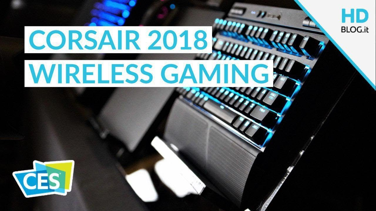 8af4ed8d3b2 Corsair K63 Wireless Keyboard, Dark Core RGB e MM1000 | CES 2018 ...