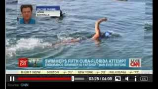 Diana Nyad 64 Breaks Record For Distance Swim 5 Miles to Reach FL From Cuba World Record Push