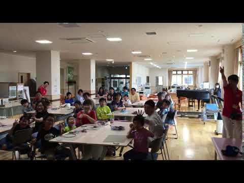 2019/08/04 木村(尚)教授とゼミ生が猿払村で「親子で一緒に工作教室」を実施しました。