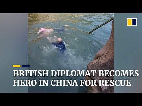 British diplomat becomes hero in China after saving student from river
