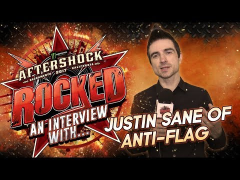 Justin Sane of ANTI-FLAG talks American Fall, US Presidents, & more at Aftershock 2017