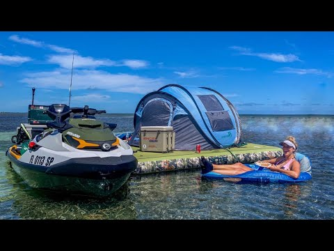 Ocean Camping And Lobster Diving In Florida | Catch Clean Cook On Our Own Private Island