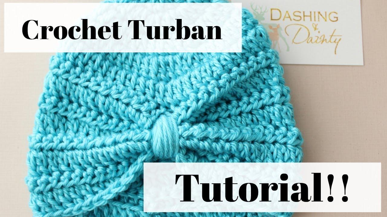 0306db32837 Crochet Turban Tutorial - Easy - Step by Step Walk Through - YouTube