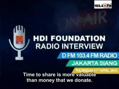 HDI Foundation on DFM Radio - Jakarta Siang