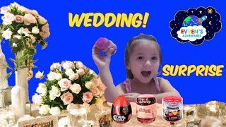 KID OPENING SURPRISE EGG MASHEMS DISNEY TOYS COLLECTORS Family Fun Event at the Wedding with Evren