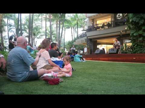 Making Friends at a Hawaiian Concert (Honolulu, HI)