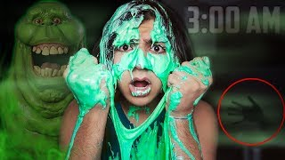 (ATTACKED BY SLIME!) DO NOT MAKE SLIME AT 3:00 AM | *THIS IS WHY* | 3 AM SLIME CHALLENGE!