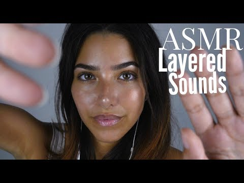ASMR Intense Relaxation | Layered Sounds & Hands movements (Face touching, Scalp massage, Crinkling)