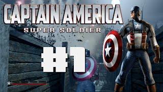 Captain America Super Soldier (PS3): Part 1 - TASTE MY SHIELD!!!