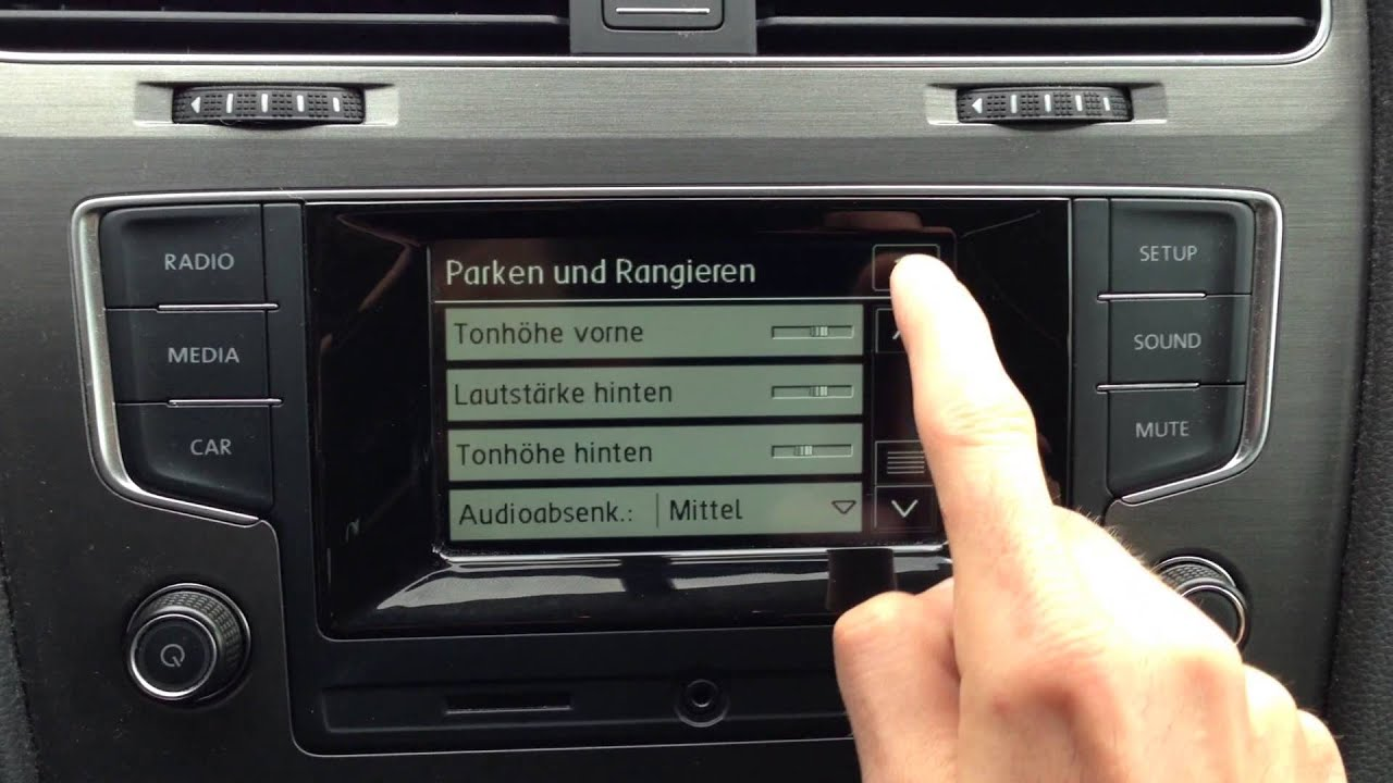 vw golf 7 radio composition touch alle funktionen youtube