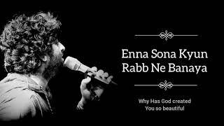 Enna Sona - Arijit Singh | Lyrics | LyricSsoul