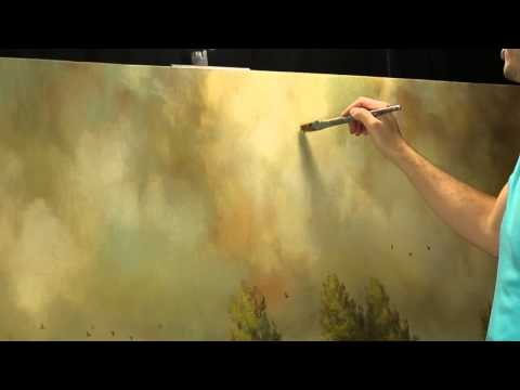 Creating subtle shadows in an atmospheric sky by artist Tim Gagnon