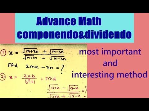 MATHS SHORT TRICKS || COMPONENDO & DIVIDENDO CONCEPT || ADVANCE MATHS, FOR COMPETITIVE EXAMS ||