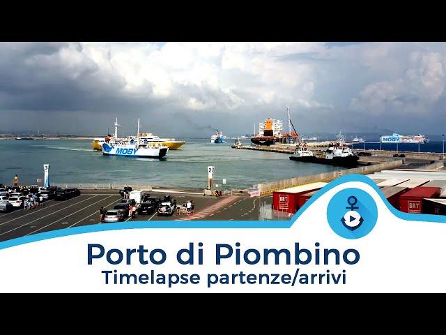 Timelapse partenze e arrivi nel Porto di Piombino