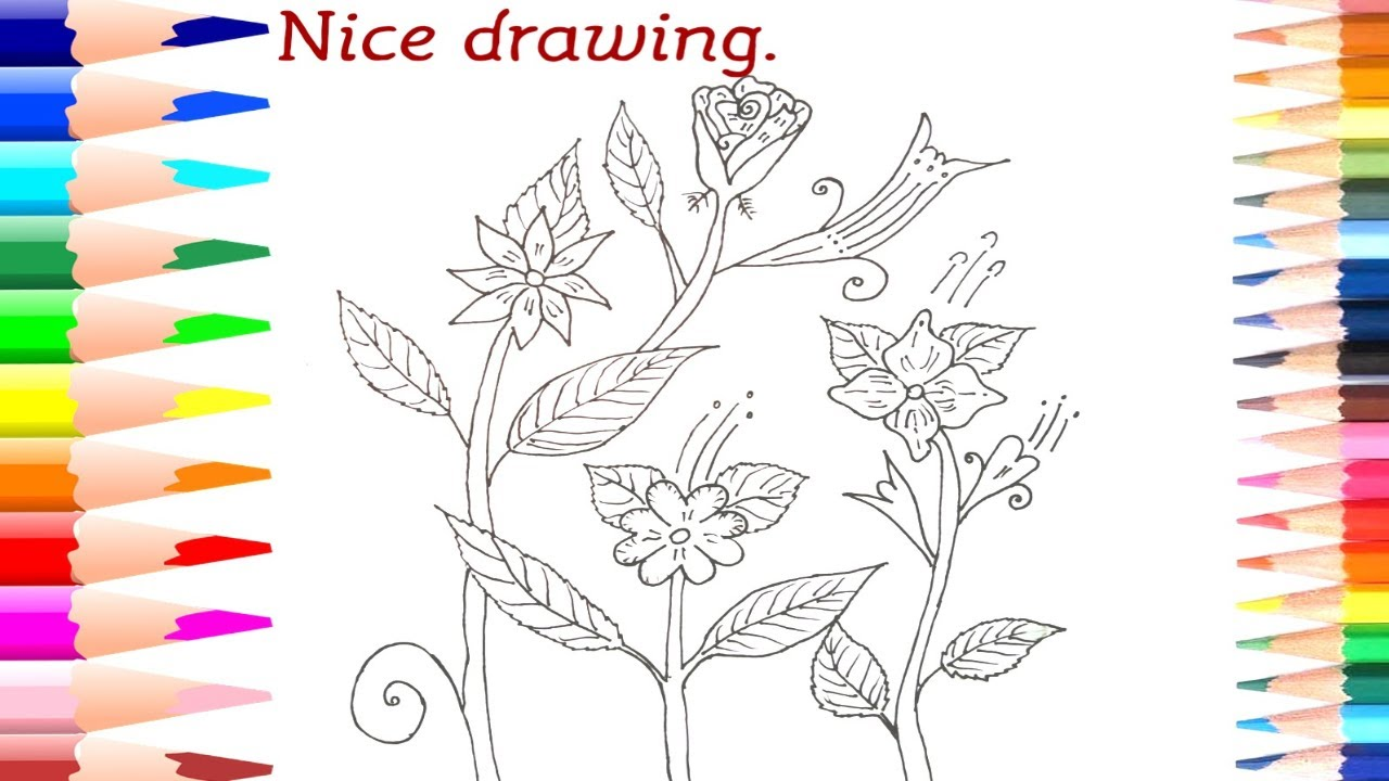 How To Draw Wedding Flower Step By For Kids