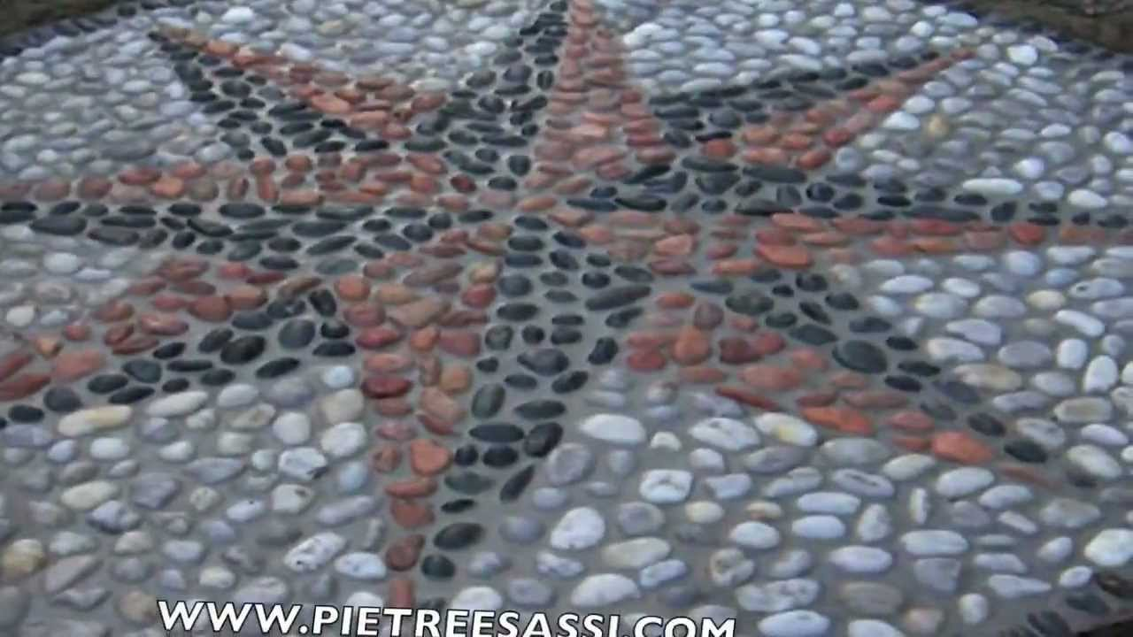 Mosaico in pietra naturale wl62 regardsdefemmes - Pavimento in ciottoli esterno ...
