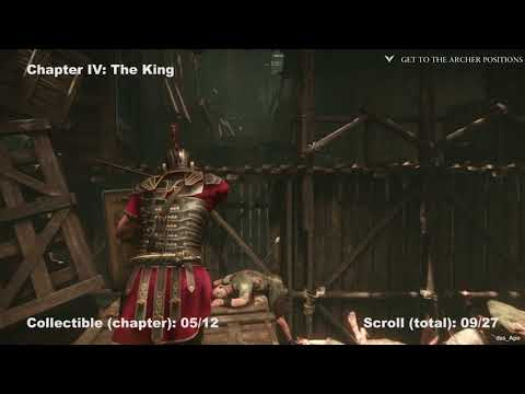 Ryse: Son of Rome - 100% Collectibles Guide - Chapter 4: The King - Chronicles/Scrolls/Vistas