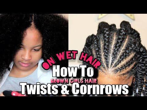 Kisse Girl Hair Butter on Twist and Cornrows  | Natural Kids Hairstyle