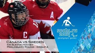 Canada vs Sweden highlights | Ice sledge hockey | Sochi 2014 Paralympic Winter Games
