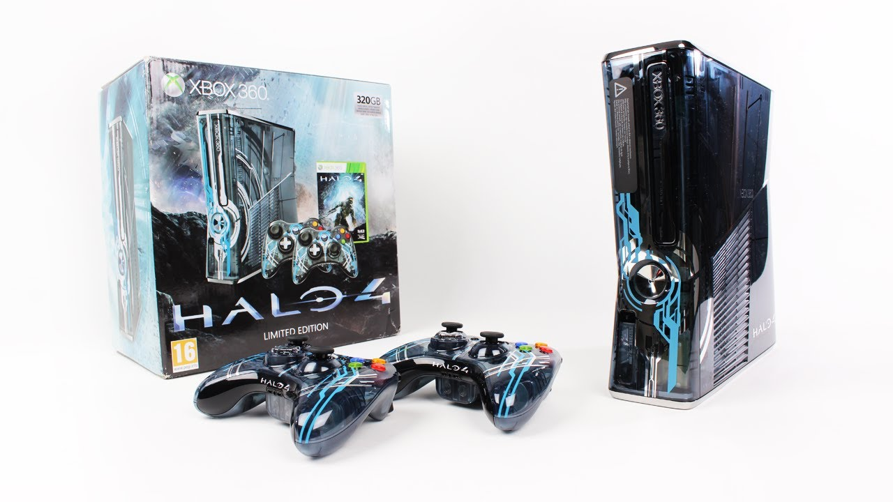 xbox 360 halo 4 limited edition console unboxing halo 4 bundle