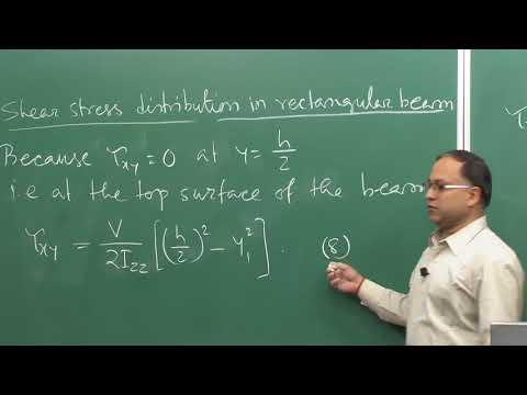 Lecture 48 – Shear Stress Distribution