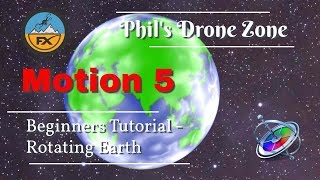 How to create a rotating Planet - Motion 5 Tutorial for beginners