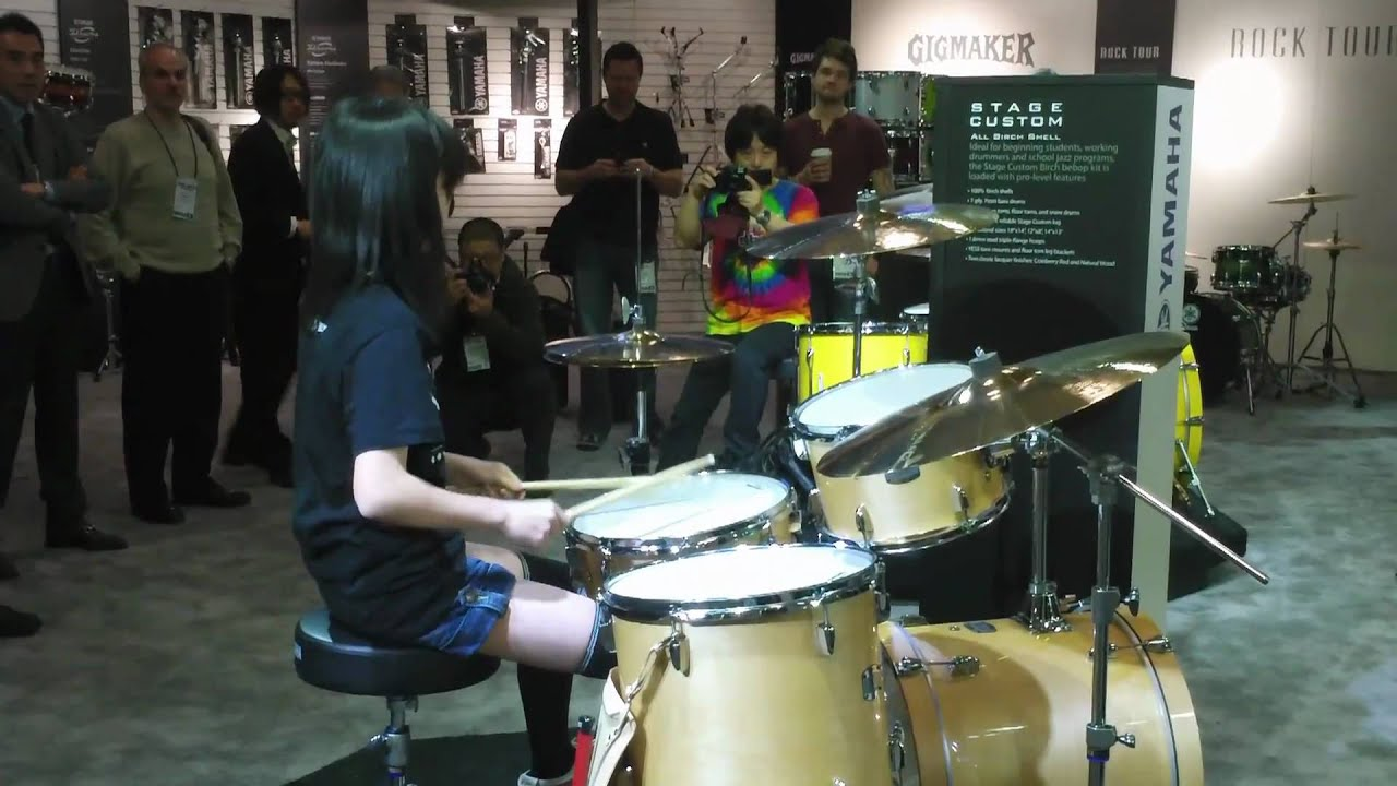 watch yamaha stage custom bop kit demo by senri namm 2011