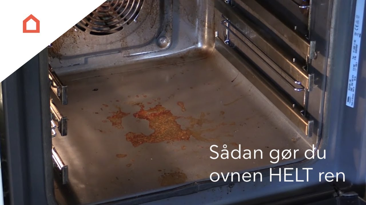 rengøring ovn salmiakspiritus