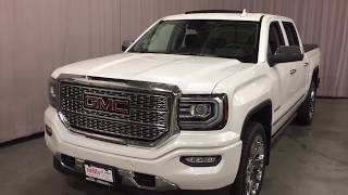 2018 GMC Sierra 1500 4WD Crew Cab Denali Spray On Liner Sunroof White Oshawa ON Stock #180181