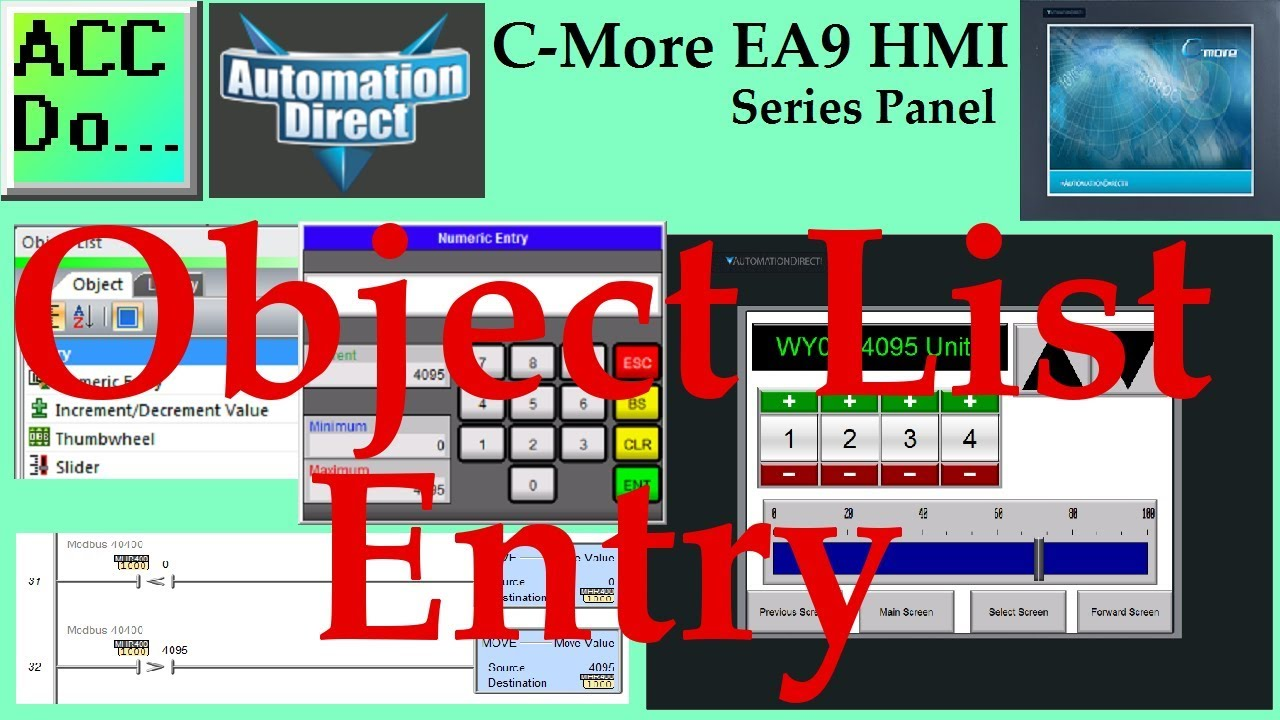 C-More EA9 HMI Series Panel Object List Entry | Acc Automation