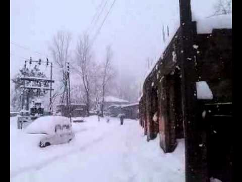 snowfall in surankote . poonch jammu and kashmir