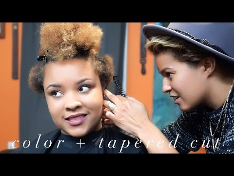 TAPERED Cut + Color with Gianne | Natural Hair