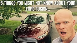 5 things you might not know about your Ford Fusion..