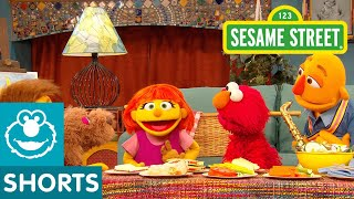 Sesame Street: Indoor Picnic with Julia, Elmo, and her family