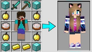 Minecraft - NOOB vs PRO : HOW FROM NOOB GIRL CRAFT PRO GIRL Challenge in Minecraft Animation