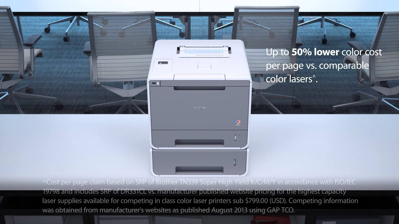 color laser printer with dual paper trays brother hl l9200cdwt