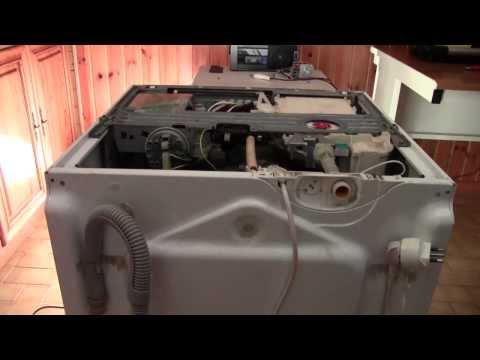 Riparazione lavatrice - Apertura carrozzeria Robotline e sostituzione cinghia