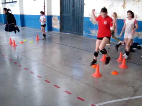 preparacion fisica de voleibol con nenas de 13 y 14 aos