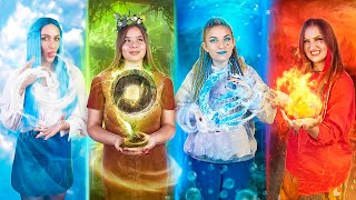Fire Girl, Water Girl, Air Girl and Earth Girl  / Four Elements Challenge!