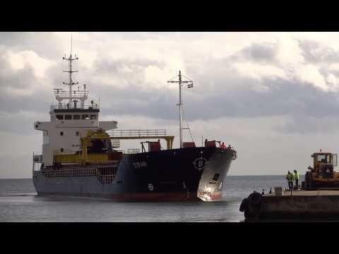 Cargo Ship TITRAN in Bergkvara (south of Kalmar, Sweden)