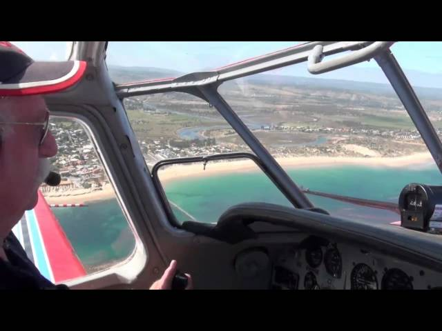 Yak-18 VH-KRM over Aldinga 2011 (Heart Kids)