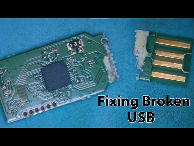 Completely Broken Kingston USB Flash Drive Repair for Data Recovery